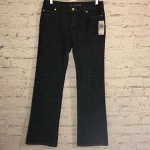 NWT MICHAEL KORS STRETCH LOW RISE BOOT CUT JEANS